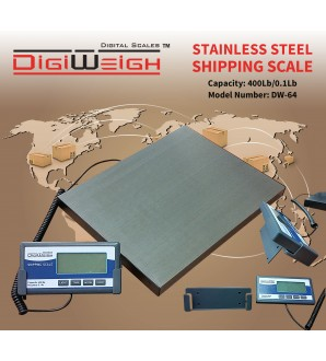 STAINLESS STEEL 400Lb/0.1LB SHIPPING SCALE
