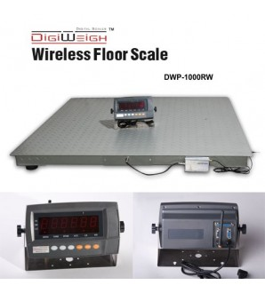 DIGIWEIGH DWP-1000RW 4' X 4' WIRELESS FLOOR SCALE 1000LB/0.1LB