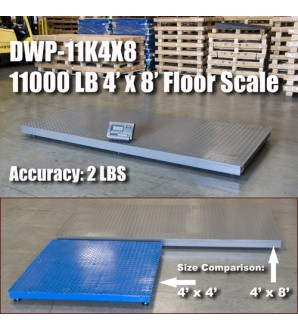 DIGIWEIGH DWP-11K 4' X 8' FLOOR SCALE 10000LB/1LB