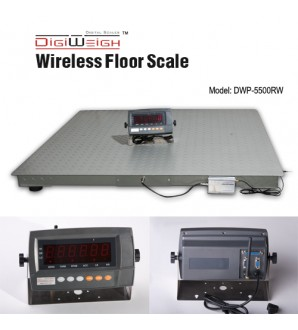 DIGIWEIGH DWP-5500RW 4' X 4' WIRELESS FLOOR SCALE 5500LB/1LB