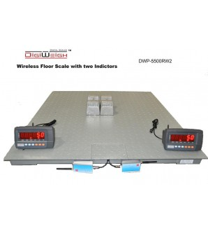DIGIWEIGH DUAL DISPLAY 4' X 4' WIRELESS SCALE