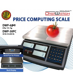DIGIWEIGH DWP-6PC (6Kg/0.1g) PRICE COMPUTING SCALE