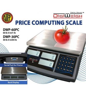 DIGIWEIGH DWP-60PC (60Lb/0.01Lb)PRICE COMPUTING SCALE
