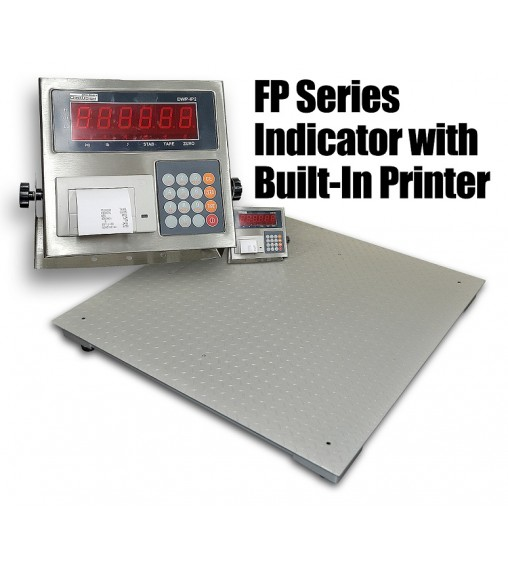 DIGIWEIGH DWP-5500FP 4' X 4' FLOOR SCALE BUILT-IN PRINTER