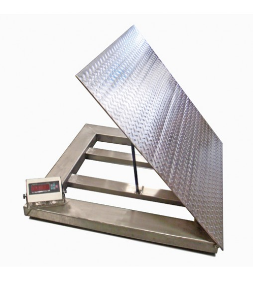 DIGIWEIGH 4'X4' LIFT-TOP STAINLESS STEEL FLOOR SCALE