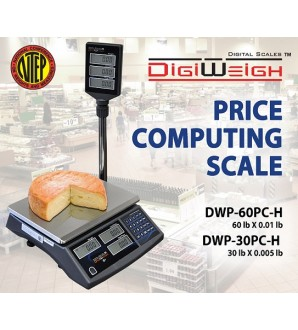 DIGIWEIGH DWP-30PC-H (30Lb/0.005Lb) PRICE COMPUTING SCALE W/POLE