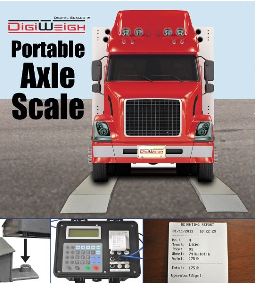 DIGIWEIGH DWP-30KAXLE 30K LB TRUCK AXLE SCALE SET